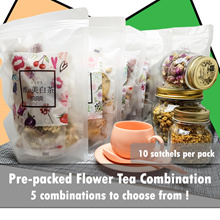 1+1 Pre-packed Flower Tea Combination. 5 Combination To Choose From!