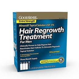 GoodSense .M.i.n.o.x.i.d.i.l. Topical Solution USP, 5% Hair Regrowth Treatment for Men, 6 Fluid Ounc