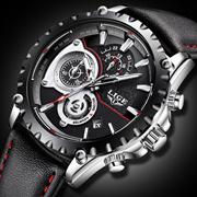 Relogio Men Watch Business LIGE Luxury Multifunctional Quartz Waristwatch Men s Casual Genuine Leath