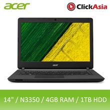 Acer Aspire ES14 (ES1-432-C8P1) - 14-Inch | Celeron N3350 | 4GB | 1TB | DVDRW | W10 (Black)