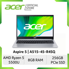 [AMD Ryzen 5000 Series] Acer Aspire 5 A515-45-R4SQ 15.6 Inches FHD Laptop   Ryzen 5 5500U Processor