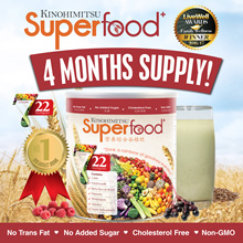 Kinohimitsu Superfood+ (500g x 4 Tins) 4 Months Supply |22 Multigrain Healthy Drink Meal Replacement