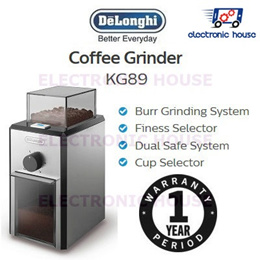 ★ Delonghi KG89 Coffee Grinder ★ (1 Year Singapore Warranty)