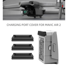 3PCS Drone Battery Charging Port Dust Cover for DJI Mavic Air 2 Drone Accessories Dampproof Hood Sho