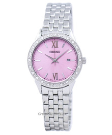 [CreationWatches] Seiko Quartz Diamond Accent SUR693 SUR693P1 SUR693P Womens Watch