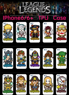 ☆LOL★League of Legends☆ Heros TPU Case for Iphone6/Iphone6+
