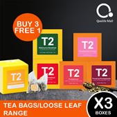 [T2Tea] [Bundle of 3] Tea Bags Range (25 bags in a box)/Loose Leaf Range (50g/100g)(Buy 3 Free 1)