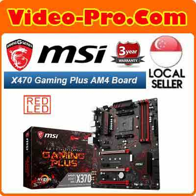 msiMSI X470 Gaming Plus AM4 SATA 6Gb/s USB 3 1 HDMI ATX Motherboard 3 Years  Local Warranty