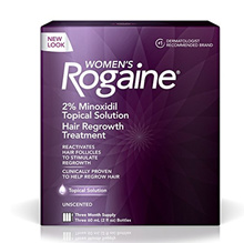Womens Rogaine Treatment for Hair Loss and Hair Thinning Minoxidil Solution, Three Month Supply
