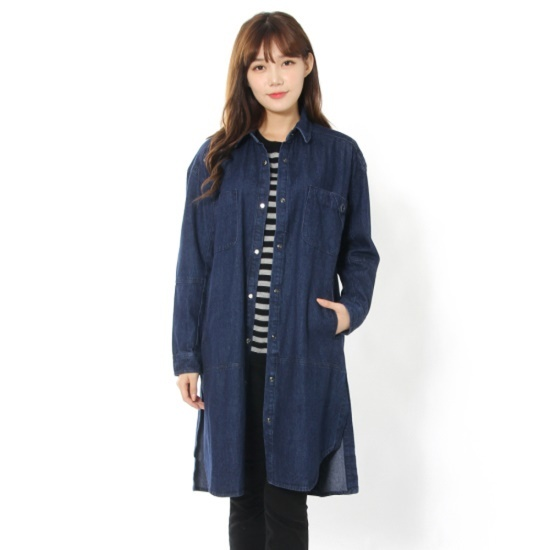 ルシャプLeShopアウトポケットアイレットスリットのデニムワンピースLH9DO301 面ワンピース/ 韓国ファッション
