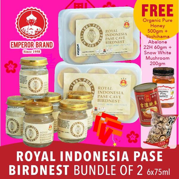 Royal Indonesia Pase Birdnest 6 X 75ml Bundle of 2. Free Abalone Deals for only S$100 instead of S$0