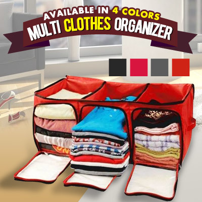 Multi Clothes Organizer Deals for only Rp100.000 instead of Rp100.000