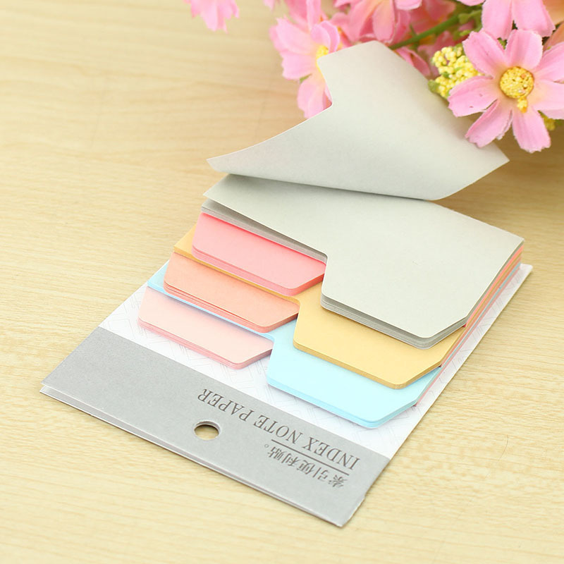 6 Colors Notebook Note Index Paper Card Stickers Note Memo for School office DIY