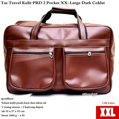 Tas Travel Kulit Suede PRD 2 Pocket XX