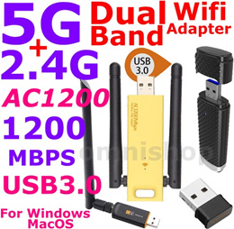 AC1200 2.4G 5G Dual Band Wireless USB 3 Wifi Adapter portable AC 1200 dongle repeater Free Warranty