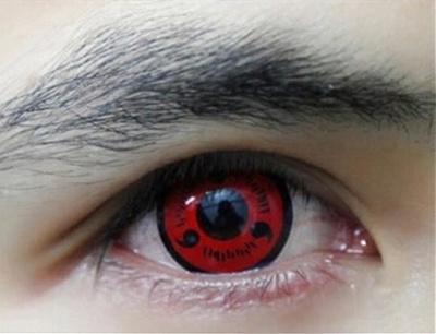 Crazy Fun Sharingan Contact Lenses Funny Sasuke Naruto Anime Cosplay Manga Naruto Sharingan Cosplay Prop Eyes Size 142 Mm Color Red