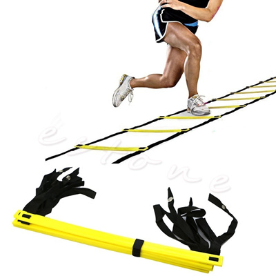 5-Rung Agility Ladder For Soccer Speed Football Fitness Feet Training (Color: Yellow)