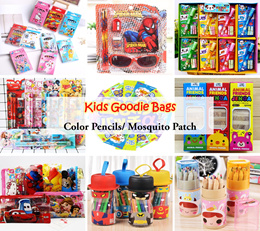 💖 Kids Goodie Bags/ Color Pencil/ Sunglass/ Marker/ Mosquito Patch/ Wallet/ Stationary Magnet Set