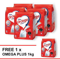 NESTLE OMEGA PLUS Milk Powder Softpack 1kg  Buy 5 Free 1