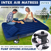 [SUPER SALE] INTEX INFLATABLE DOWNY AIR BED MATTRESS * SINGLE / SUPER SINGLE / QUEEN / SUPER QUEEN * OUTDOOR / HOME USE