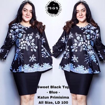 Blouse Sweet Black Blue
