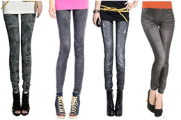 [BUY 2 FREE 1] Stretchable Skinny Slim Fit Denim Jeans Printed Legging