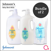 [JnJ]【$10.90 for 1st 200】Johnsons Baby Bath 1L x 2 - Cleanses baby skin gently