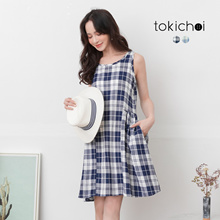 TOKICHOI - Naughty Check Sleeveless Dress -190830