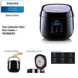 Philips Viva Collection Rice Cooker - HD3060/62 with 2 years international warranty