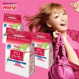 [ 3 PACKS BUNDELS] Meiji Amino Collagen Powder Regular Refill Pack 214g x 3PACKS /