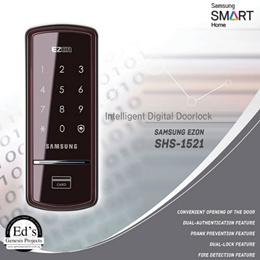 Samsung Digital Door Lock - SHS 1521 (Pin and RF Card)삼성 디지털 도어 잠금 - SHS 1521 (핀 및 RF 카드)