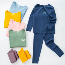 【BUY 4 free shipping】2019 new winter kids ultra thin warm suit, boy/girl  Thermal Underwear