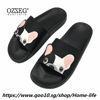 b814fc72567e Fashion Animal Bulldog Slippers Summer Sandals Flip Flops Beach Women  Cartoon Shoes Outside Cute Fun