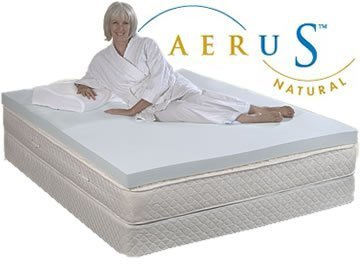 aerus aerus 4 inch 4 pound density memory foam mattress pad topper queen