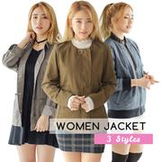 [NEW ARRIVAL] COUP S4 WOMEN JACKET  3 STYLES /BOMBER /PARKA/ZIPPER COLORS_JACKET WANITA/KOREAN BRAND