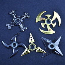 High Quality Fidget Finger Spinner Naruto Finger Darts Metal Darts Spinners Role Playing Rotatable W