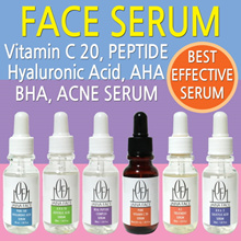 6 Kinds Serum Vitamin C 20% Hyaluronic acid Salicylic (BHA) Glycolic (AHA) Acne Treatment Peptide