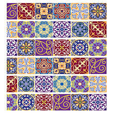 Wall Stickers - Stair Sticker Set - Tile Decals Mexican Traditional Stair Stickers 7.1 X 39.4 Inch 6