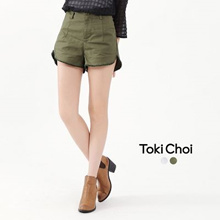TOKICHOI - Shorts with Frayed Hem-6019042-Winter