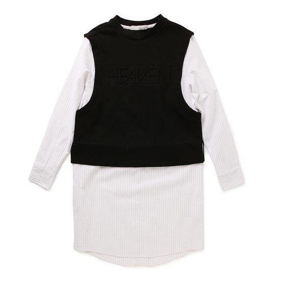 ペノムペノムELOQミックスエンボシングワンピースB162MOP158W 面ワンピース/ 韓国ファッション