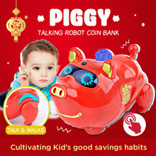 🐷CNY Pig Year Coin Bank🐷 Talking Plush and Robot Design / Kids Toy / Chinese New Year