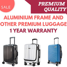 **CLEAR STOCK** Aluminium Frame and Zipped Luggage With Warranty