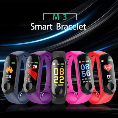 Tracking Device Counter Alarm Clock Wristband M2 M3 Smart Bracelet