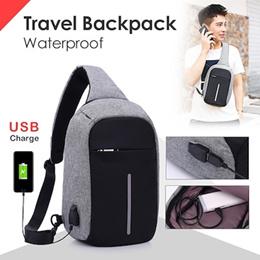Tas selempang anti maling Anti Air - Waterproof Anti Theft Sling Bag