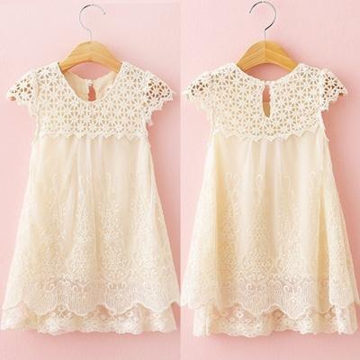 Qoo10 Summer Kids Baby Girls Lace Crochet Tutu Dress Princess