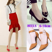 High Heel Shoes Wedges Shoes Women Party Wedding Winter Boots Fashion dress shoes★big size