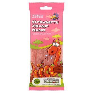 Tesco Strawberry Flavour Lances 75g [Halal Certification]