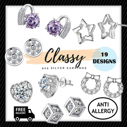 LITTLE MOMO  925 SILVER EARRINGS ANTI-ALLERGY  CLASSY DESIGNS