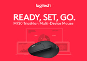 Logitech M720 Triathlon Wireless Mouse that can Pair with Three Devices 910-004792