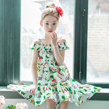 Baby Girls Summer 2017 New Kids Print Party Dress Girls Children Bohemian Vestido Infantil Fashion